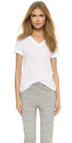 T by Alexander Wang Superfine V Neck Tee | SHOPBOP
