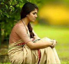 Flaunt Your Linen Saree Look Like Actress Nayanthara Indian Beauty Saree, Indian Sarees, Indiana Girl, Dehati Girl Photo, Saree Models, Saree Look, Most Beautiful Indian Actress, Indian Celebrities, Beauty Full Girl