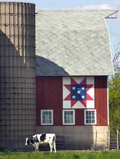 Patriotic Barn Quilt--What type of roof tile is that?