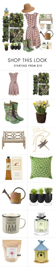 """""""Garden"""" by nathalie-puex ❤ liked on Polyvore featuring Wallis, Joules, Crabtree & Evelyn, Authentics, Wild & Wolf, Gucci, Potting Shed Creations, Herend and Helen Kaminski"""