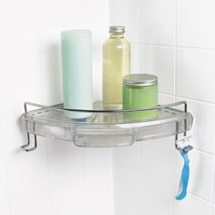 Use gravity and shower caddies to your advantage when getting every last drop of shampoo and conditioner out of every bottle. #CARETORECYCLE