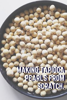 Make tapioca pearls or boba pearls from scratch right at home. All you need is 3 ingredients and 1 hour. Tap inside to make tapioca pearls from scratch! How To Make Boba, Boba Pearls, Tapioca Pearls, 3 Ingredients, Beans, Diet, Vegetables, Breakfast, Healthy