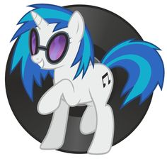 Vinyl Scratch on the CD Record Disk
