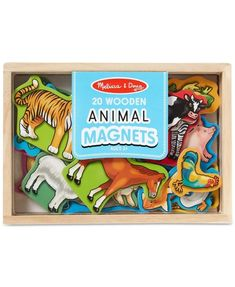 Melissa and Doug Toy, Magnetic Wooden Animals Wooden Case, Wooden Boxes, Melissa & Doug, Wooden Animals, Decorating Blogs, Baby Clothes Shops, Preschool Activities, Games For Kids, Diy Tutorial