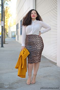 Plus Size Pencil Skirt Outfits | Curve Hugging Pencil Skirts