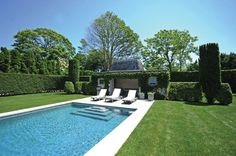 Ivy covered pool house