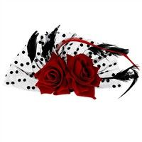 Buy Bridal Fascinator Red Rose Flower Dots Hair Clips Headwear Wedding Supplies (Red) at Wish - Shopping Made Fun Red Rose Flower, Red Flowers, Red Roses, Neutral Wedding Flowers, Bridal Hair Flowers, Bridal Fascinator, Bridal Headpieces, Fascinators, Flower Hair Accessories