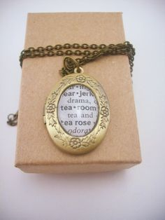 Want it! http://www.etsy.com/listing/86856313/tearoom-locket-vintage-dictionary-page