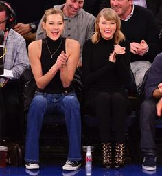 From Taylor Swift and Karlie Kloss to Beyoncé and Jay Z, see your favorite stars sitting courtside at NBA games in honor of the Playoffs. Basketball Playoffs, Nba Playoffs, Basketball Season, High Top Basketball Shoes, Best Basketball Shoes, Celebrity Outfits, Celebrity Style, Nba Stars, Celebs