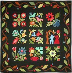 Folk Art Melody pattern, wool, by Lori Smith