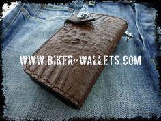 """""""Dundee"""" 6"""" Crocodile Men's Biker Wallet"""