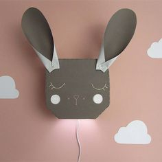 ANIMAL AND FLOWER WALL LIGHTS - SPANISH TYPOGRAPHIC PRINTS - TAPESTRIES – And so to Shop Kids Bedroom, Bedroom Decor, White Chalk Paint, Bunny Rabbit, Flower Wall, Tapestries, White Light, Spanish, Wall Lights