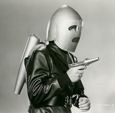 1949: ROCKET MAN    Vintage Future - Retro Futurism - Vintage Sci Fi - jet pack - ray gun