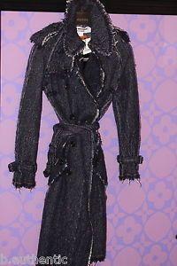 JUNYA WATANABE Comme des Garcons Denim Print Wool Tweed Trench Epaulette