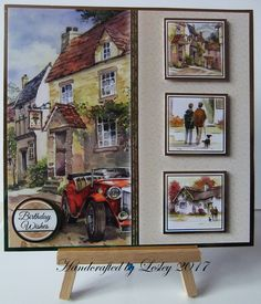A village stroll Male Birthday, Birthday Cards For Men, Birthday Wishes, Happy Birthday, Kanban Cards, Tonic Cards, Hunkydory Crafts, Hunky Dory, Men's Cards