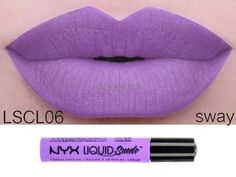 NYX Liquid Suede Cream Lipstick 'SWAY' LSCL06 Lavender New Sealed Authentic