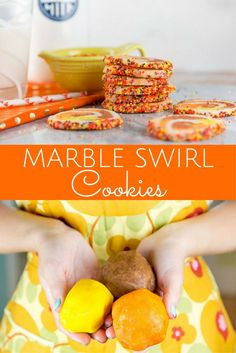 Marble Swirl Cookies for Halloween or Thanksgiving