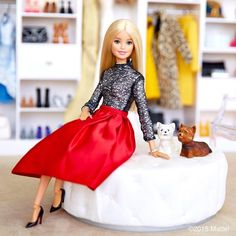 Barbie with pets