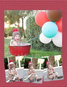Sock Monkey first birthday photography ideas lacyegirl