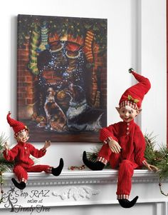 http://www.trendytree.com/raz-christmas-and-halloween-decor/raz-elf-in-red-pajamas-16.html
