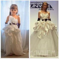 INSPIRACIÓN: Una niña de 4 años hace sus propios DIY de ropa de alta costura en papel