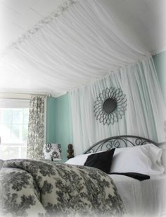 Master Bedroom Bed Canopy Curtains, 12 Amazing DIY Headboard Ideas To Spice Up Your Bedroom!