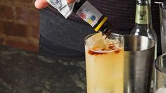 This margarita and dark-and-stormy mash-up from Joe Campanale packs a serious punch with tequila, ginger beer and two kinds of bitters