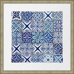Melissa Van Hise Ancient Tiles II Framed Graphic Art