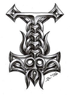 deviantART: More Like Thors Hammer Tattoo by ~sobie182  For my inner viking                                                                                                                                                                                 Mehr