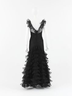 Evening dress, House of Chanel (French, founded 1913), silk, French