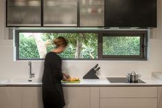 Kitchen design |  Custom made glass cabinets #design #kitchen #sfakiannakisphotography