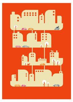 Interesting print by Judykaufmann.