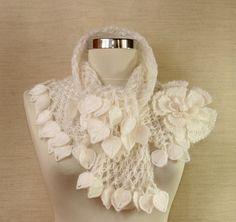 Night in White Satin / Bridal Shrug Bolero Crochet by lilithist