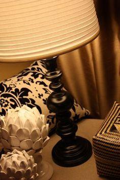 Brass lamp makeover