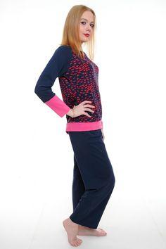 Пижама А1790 Размеры: S, M, L, XL Цена: 908 руб.  http://optom24.ru/pizhama-a1790/  #одежда #женщинам #пижамы #оптом24