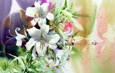 Корейский акварелист Shin Jong Sik. Цветы акварелью. Двенадцатые