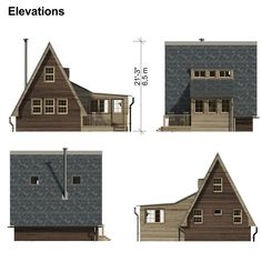 The Return of A-Frame Cabins - Rustic Design Building Costs, Building A Tiny House, Building Ideas, A Frame House Plans, A Frame Cabin, Cottage Plan, Shops, French Cottage, Inspired Homes