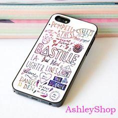 Bastille Lyrics Rainbow Case For iPhone 4/4s/5s/5c/6/6+/S3/S4/S5/S6 - Default iPhone 5/5s Case