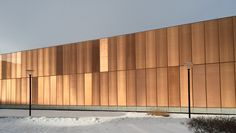 Des Moines Public Library, Iowa  Chipperfield Architects Des Moines Library, Facade Design, Exterior Design, David Chipperfield Architects, Industrial Park, Glass Facades, Corten Steel, Metal Mesh, Facade Architecture