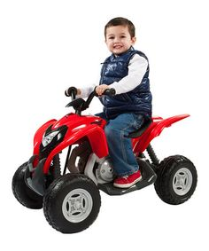 Another great find on #zulily! Red Honda ATV Ride-On #zulilyfinds