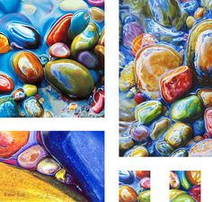 Colorful Riverbeds Drawn / Ester Roi