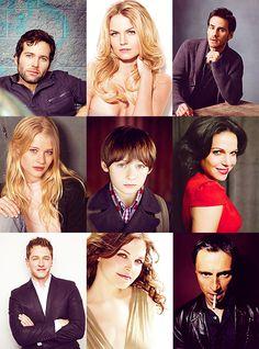 Cast of OUAT: August/Pinoccio, Emma, Hook, Lacey/Belle, Henry, Regina/Evil Queen, David/Prince Charming, Mary Margaret/Snow White, & Mr. Gold/Rumplstiltskin