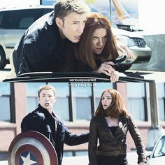 I ship Steve with Peggy...  But I ship this two so much...  They are perfect for each other