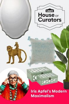 Bring bold personality and energy to any room with Iris Apfel's Modern Maximalism curation for Lowe's House of Curators.​