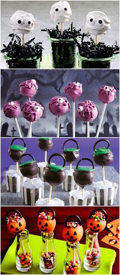 Make sure your Halloween is properly adorable with this yummy and spooky cake pops!