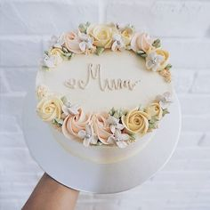 New Cake Designs Buttercream Flower Cupcakes 52 Ideas New Birthday Cake, Birthday Cake With Flowers, Pretty Birthday Cakes, Birthday Cupcakes, Pretty Cakes, Birthday Cake For Mother, Birthday Ideas, Birthday Design, Grandma Birthday Cakes