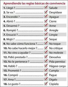 Reglas básicas de convivencia por Andrea Chávez.