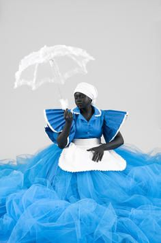 """b-sama: """"New Africa: the South African artist addressing her family's past Mary Sibande's ancestors could only be maids. Now she uses their uniforms in her art """" In the new South Africa, black. Contemporary African Art, Contemporary Artists, Modern Contemporary, African American Art, American Artists, Festival D'art, South African Artists, Illustrations, Art Photography"""