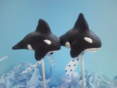 Orca's #cakepops #cake #whales
