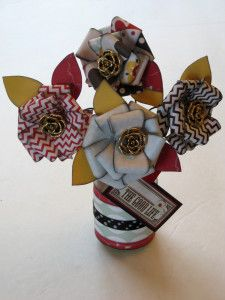 Pretty Paper Flower Tutorial by Tracy McLennon for Buttons Galore and More - a great Spring Craft.